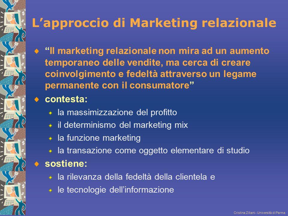 L'approccio di Marketing relazionale