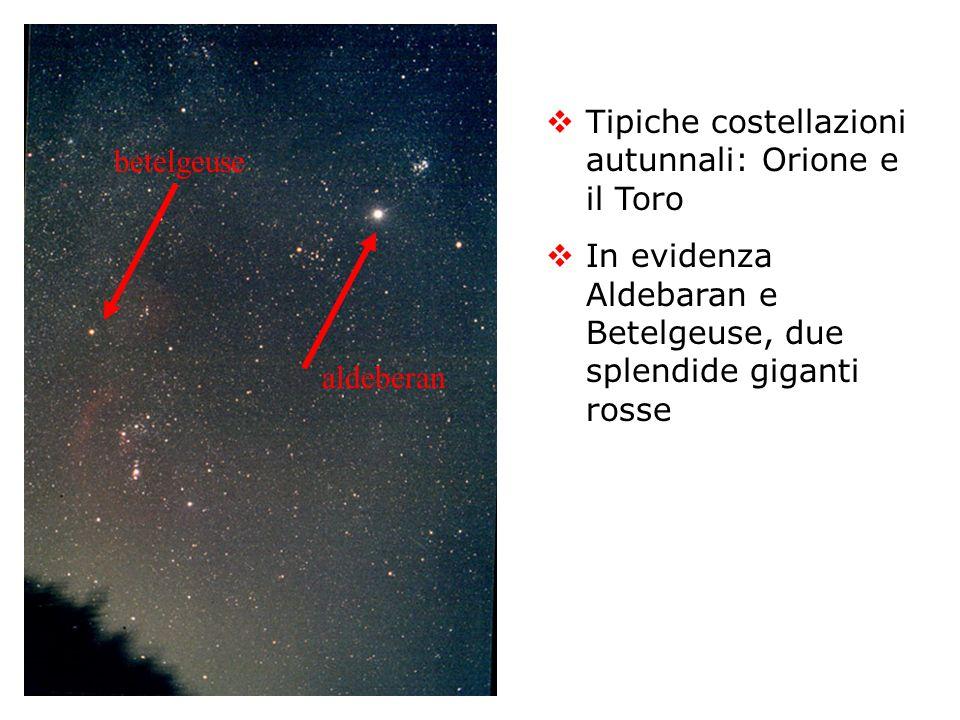 Tipiche costellazioni autunnali: Orione e il Toro