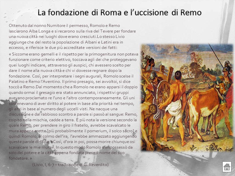 La fondazione di Roma e l'uccisione di Remo