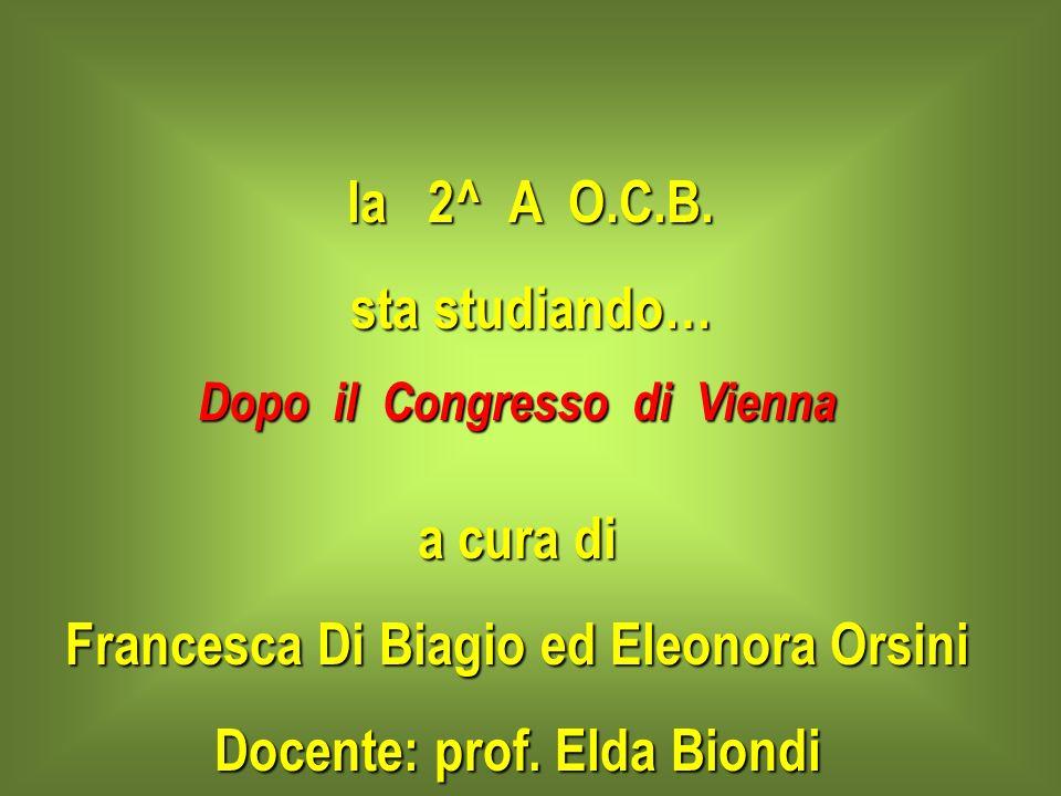 Francesca Di Biagio ed Eleonora Orsini Docente: prof. Elda Biondi