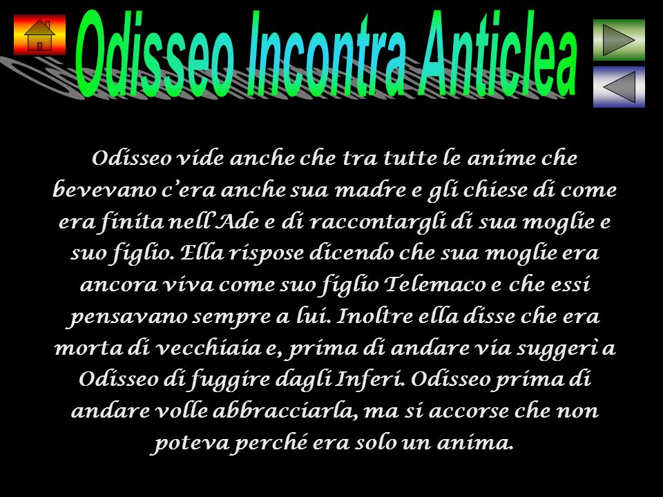 Odisseo Incontra Anticlea