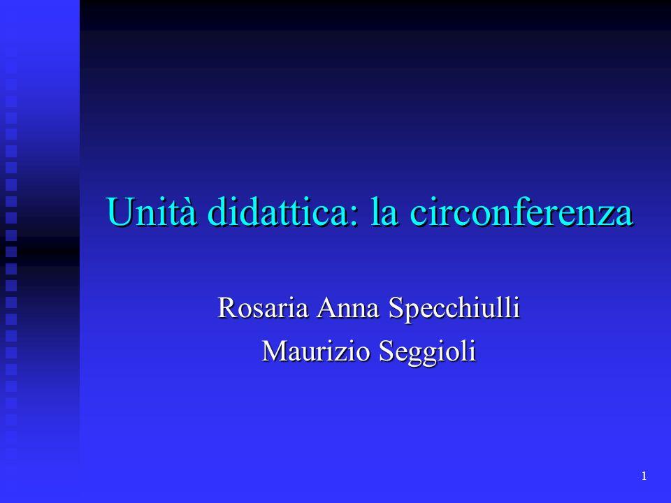Unità didattica: la circonferenza