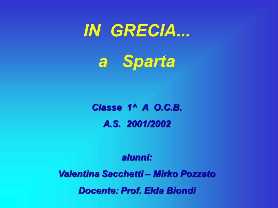 Valentina Sacchetti – Mirko Pozzato Docente: Prof. Elda Biondi