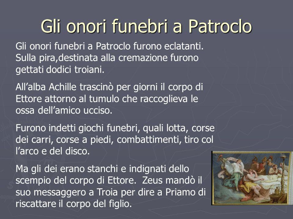 Gli onori funebri a Patroclo