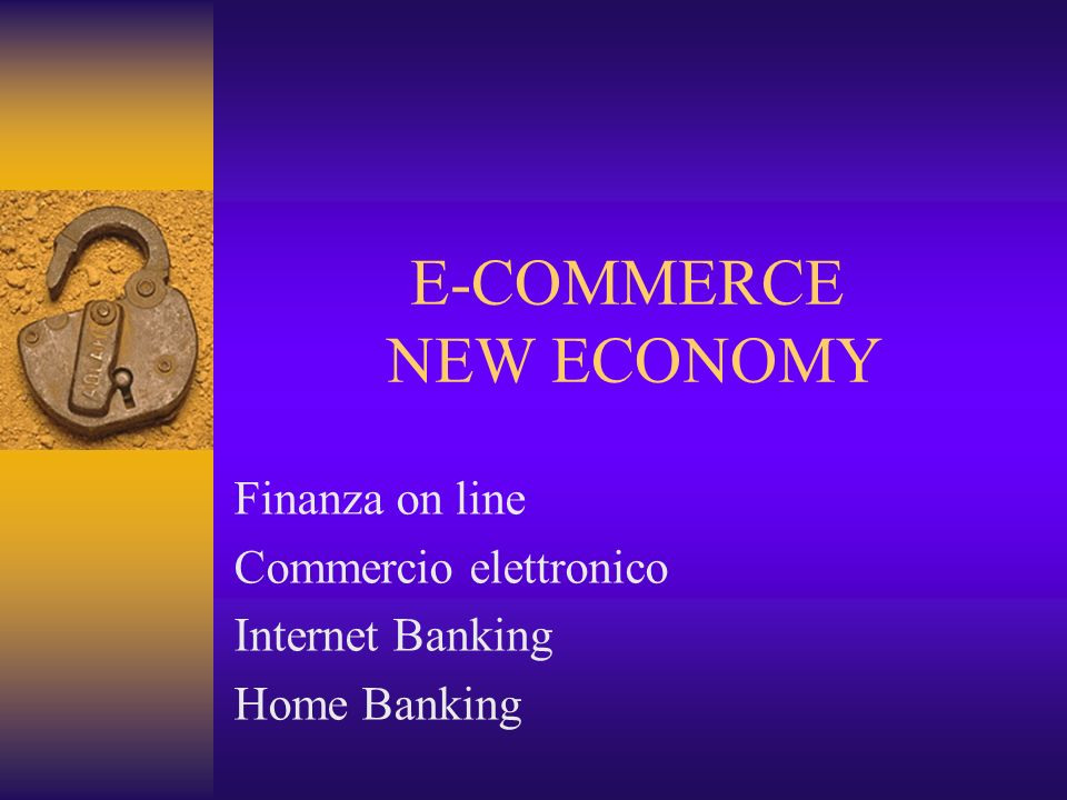 E-COMMERCE NEW ECONOMY
