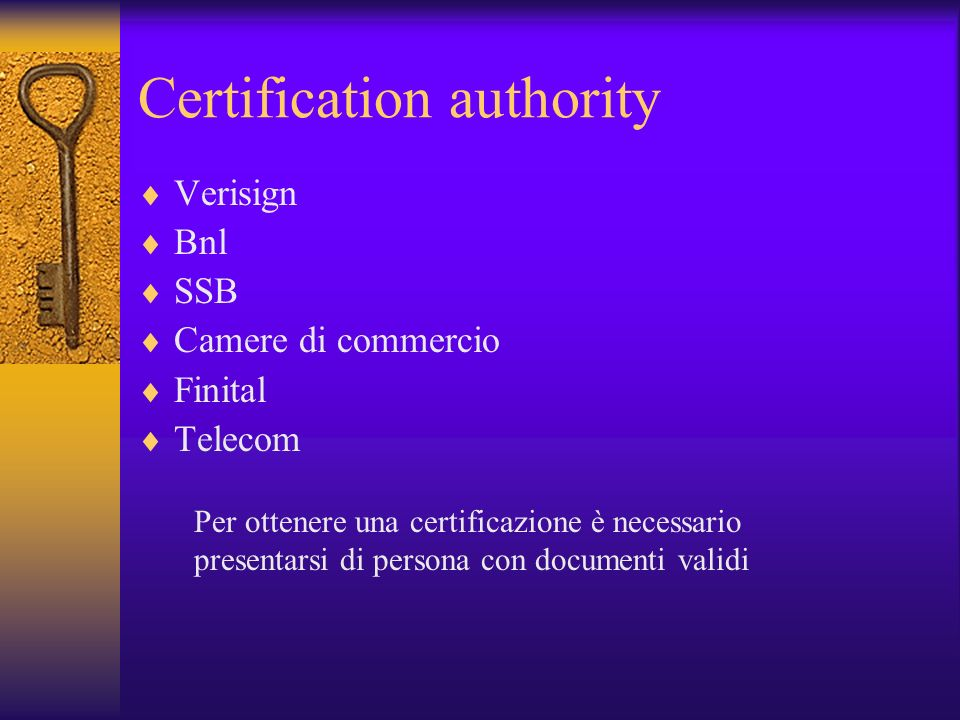 Certification authority