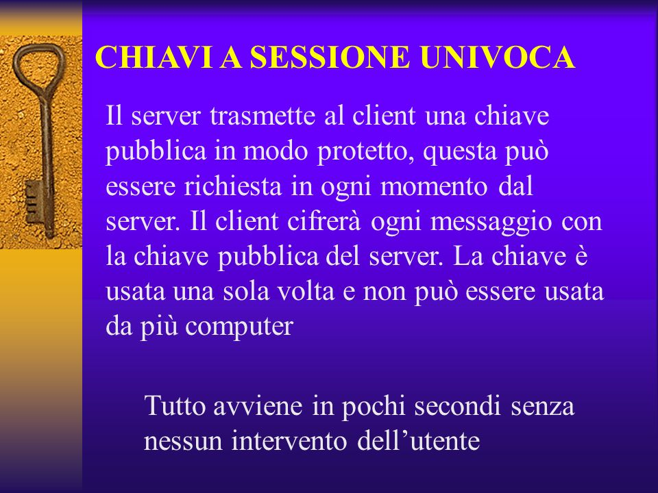 CHIAVI A SESSIONE UNIVOCA