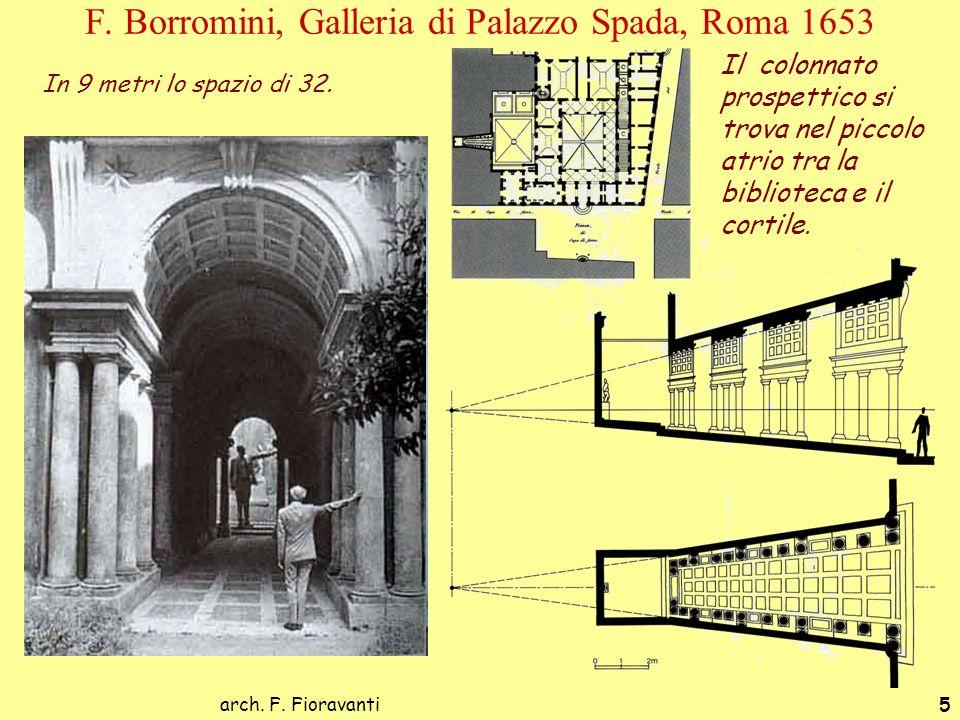 F. Borromini, Galleria di Palazzo Spada, Roma 1653