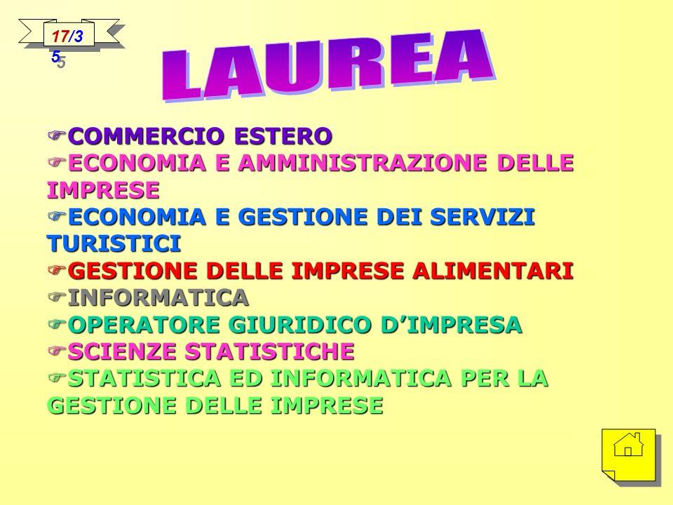 LAUREA COMMERCIO ESTERO ECONOMIA E AMMINISTRAZIONE DELLE IMPRESE