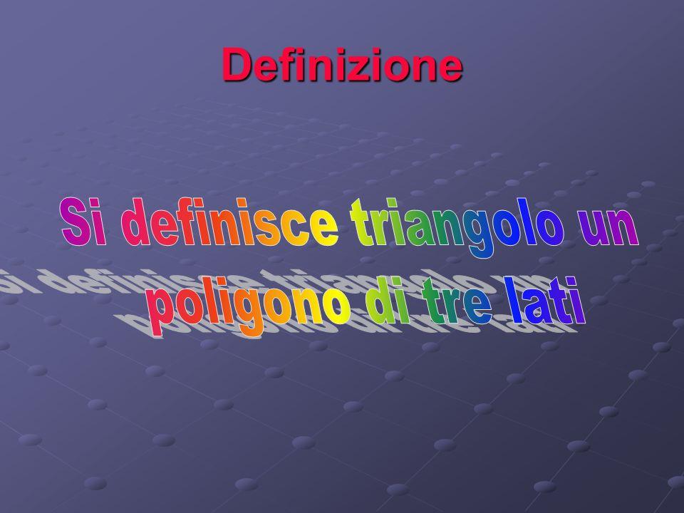 Si definisce triangolo un