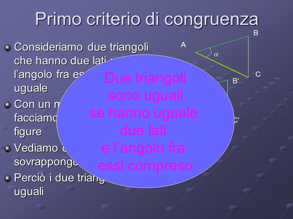 Primo criterio di congruenza