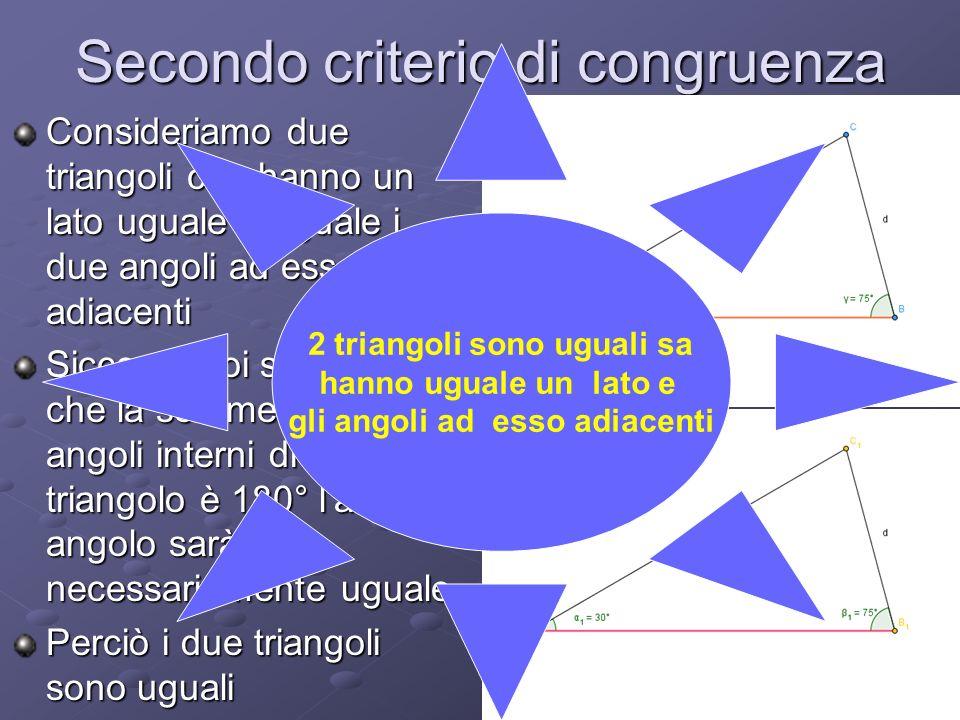 Secondo criterio di congruenza
