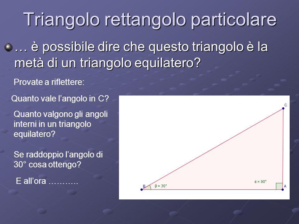 Triangolo rettangolo particolare