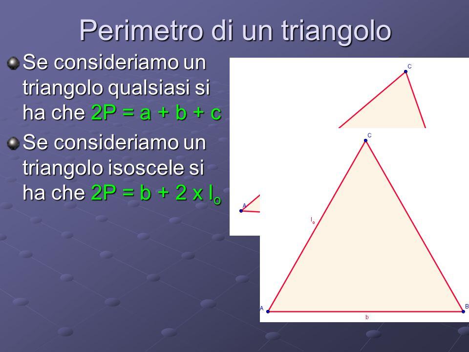 Perimetro di un triangolo