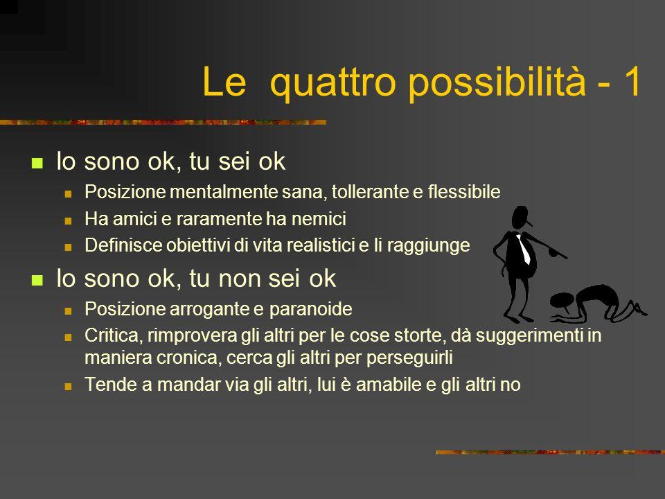 Le quattro possibilità - 1