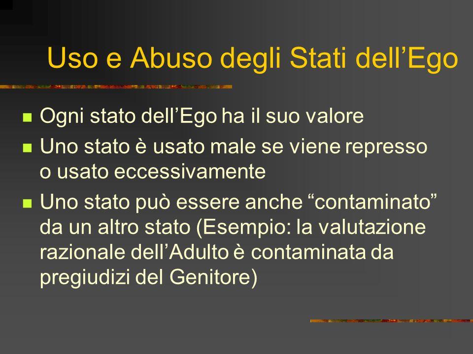 Uso e Abuso degli Stati dell'Ego