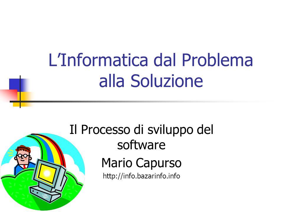 L'Informatica dal Problema alla Soluzione