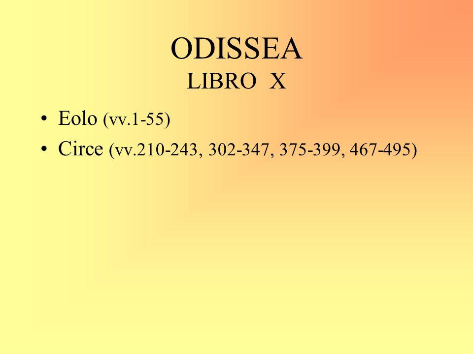 ODISSEA LIBRO X Eolo (vv.1-55)