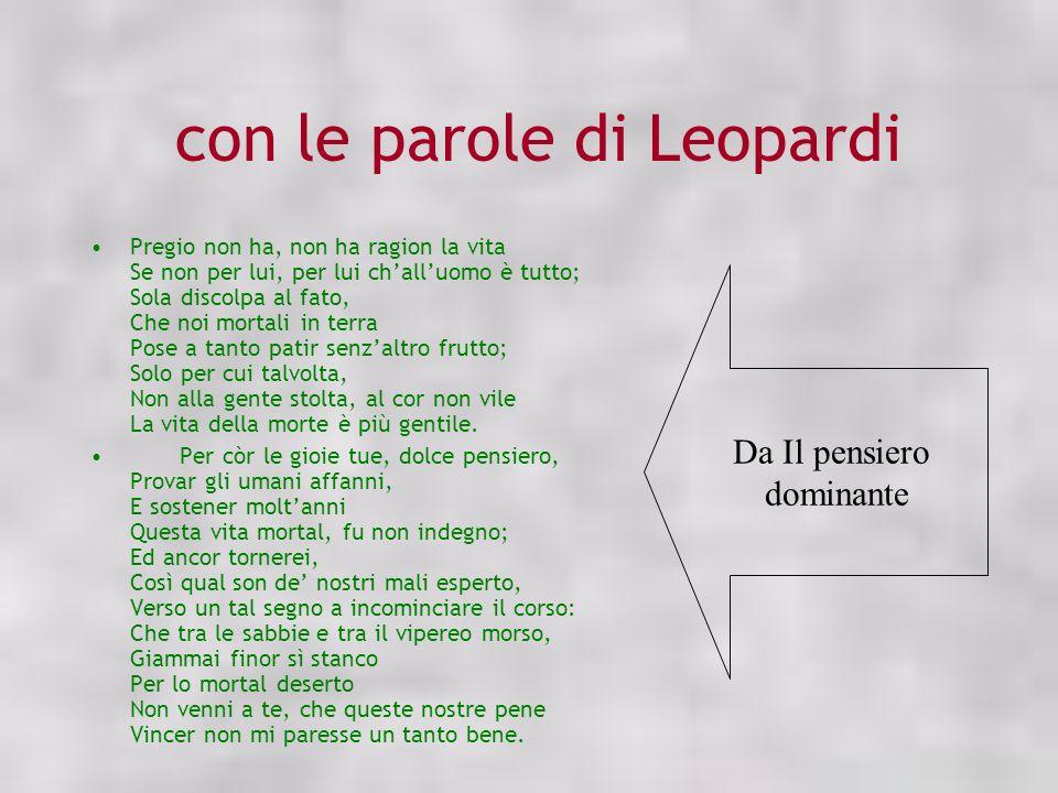 con le parole di Leopardi