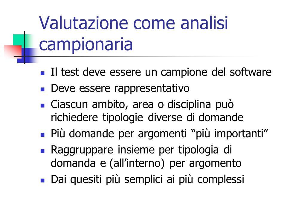 Valutazione come analisi campionaria