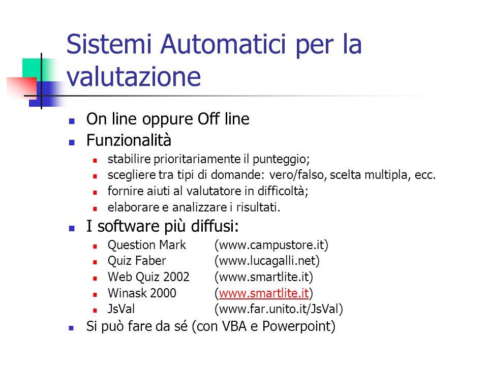 Sistemi Automatici per la valutazione