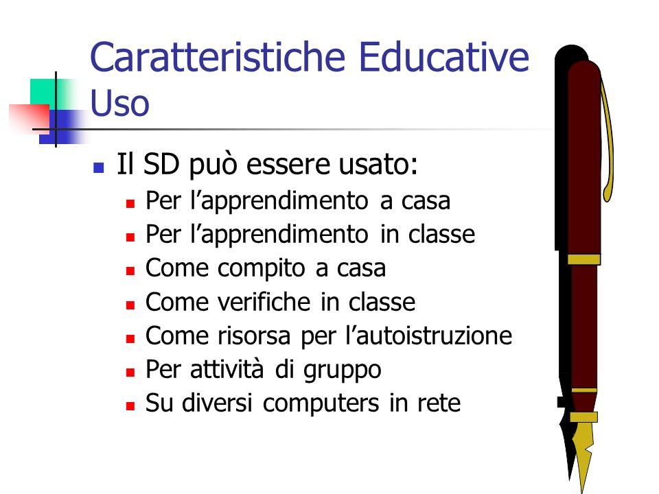 Caratteristiche Educative Uso