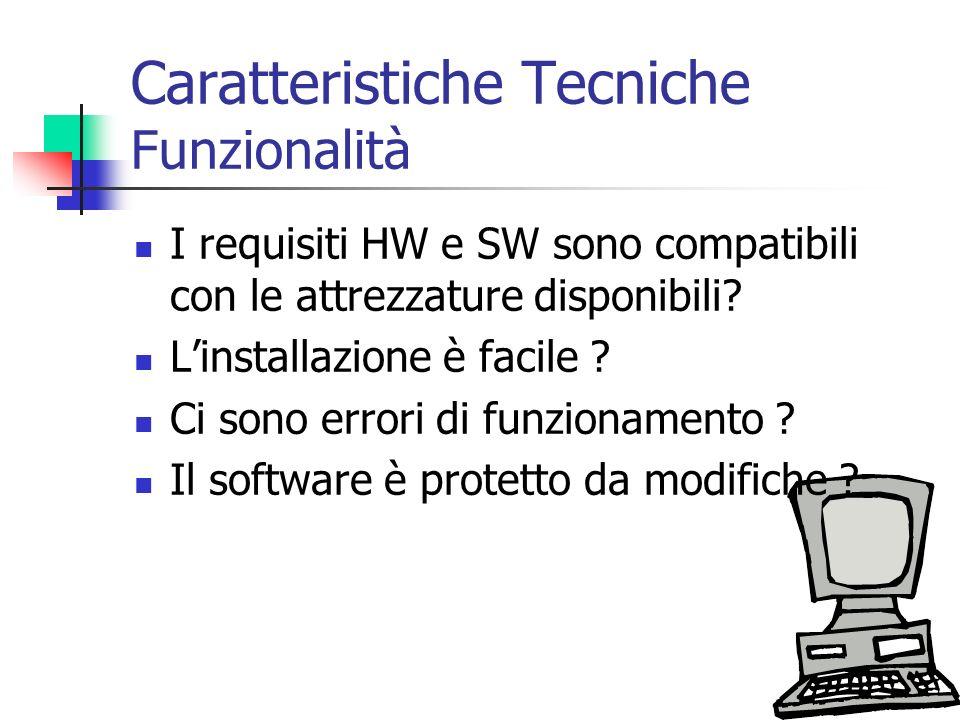 Caratteristiche Tecniche Funzionalità