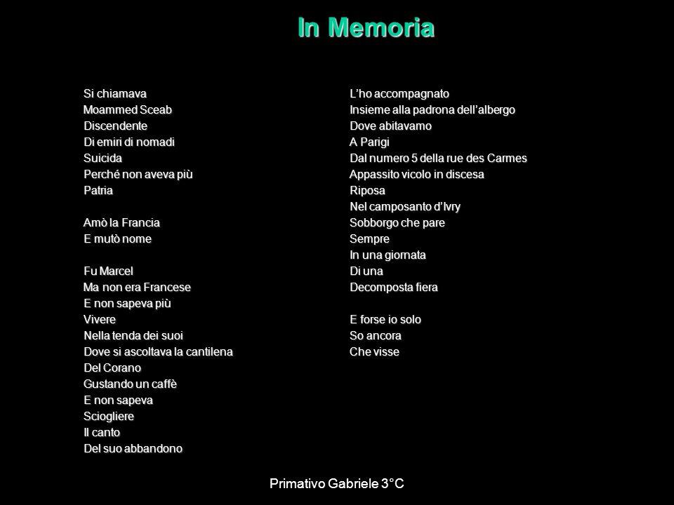 In Memoria Primativo Gabriele 3°C