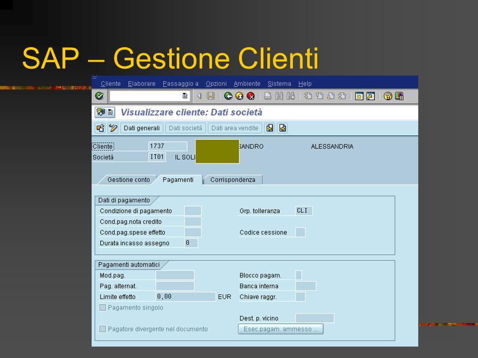 SAP – Gestione Clienti