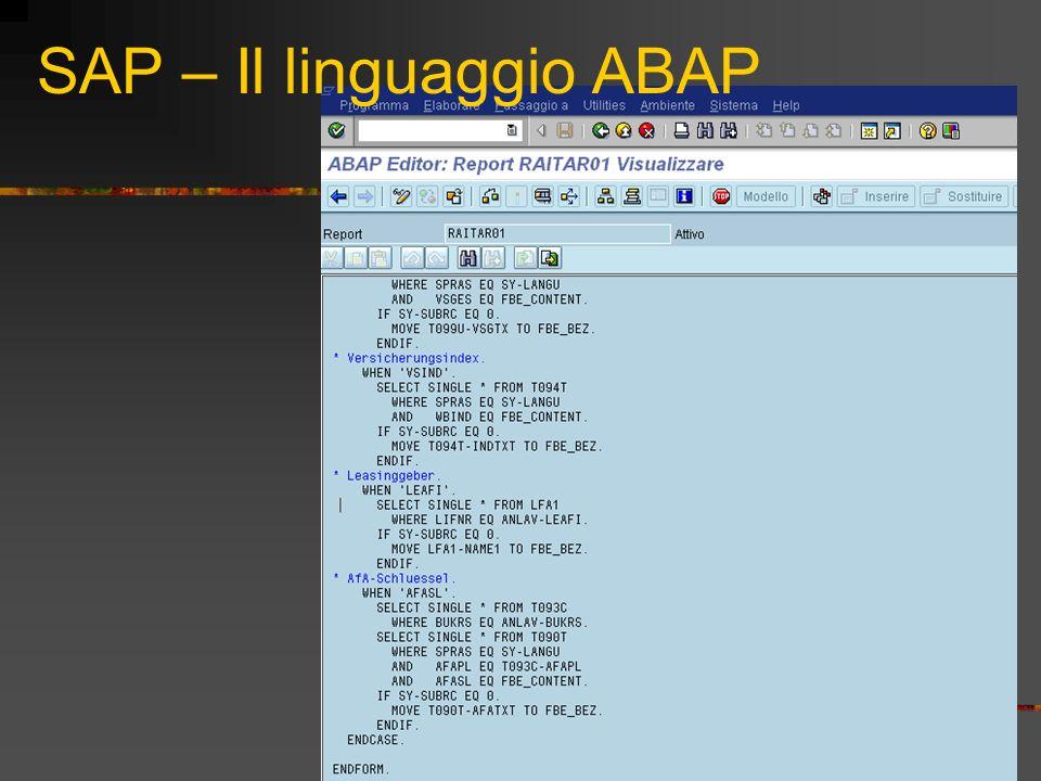 SAP – Il linguaggio ABAP