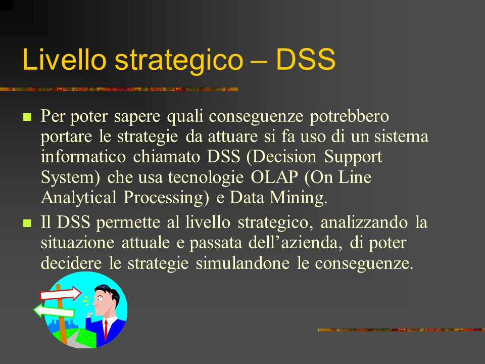 Livello strategico – DSS
