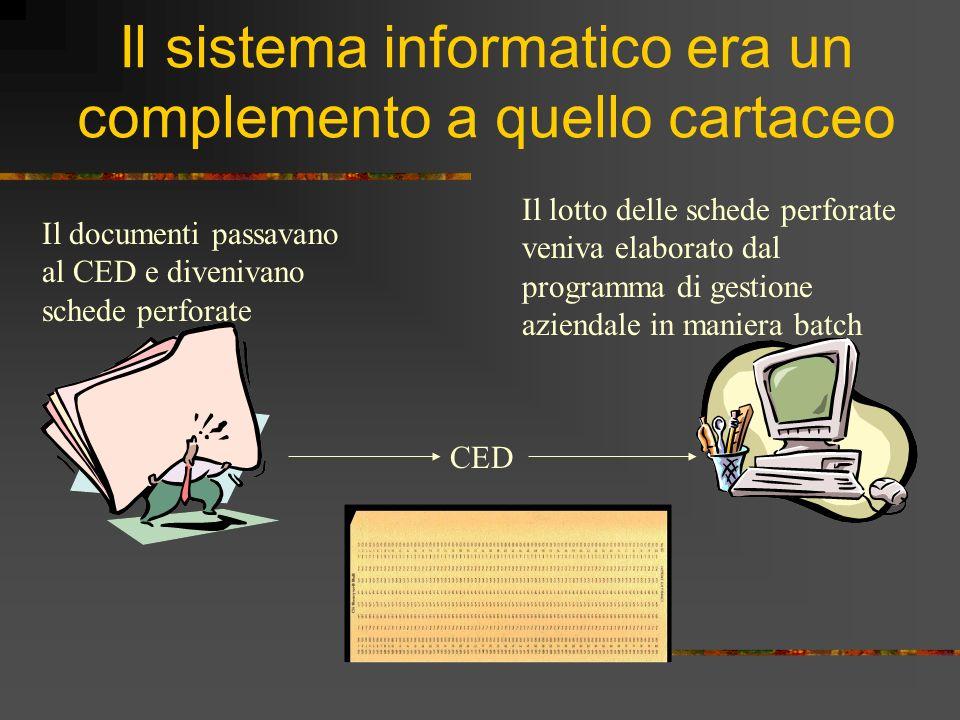 Il sistema informatico era un complemento a quello cartaceo