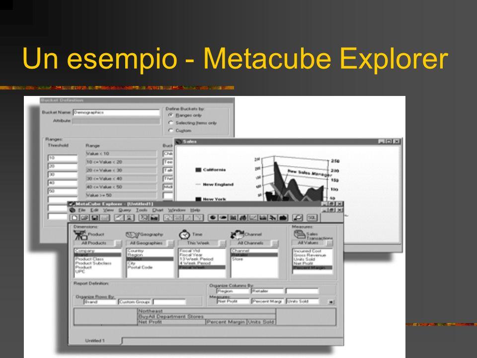 Un esempio - Metacube Explorer