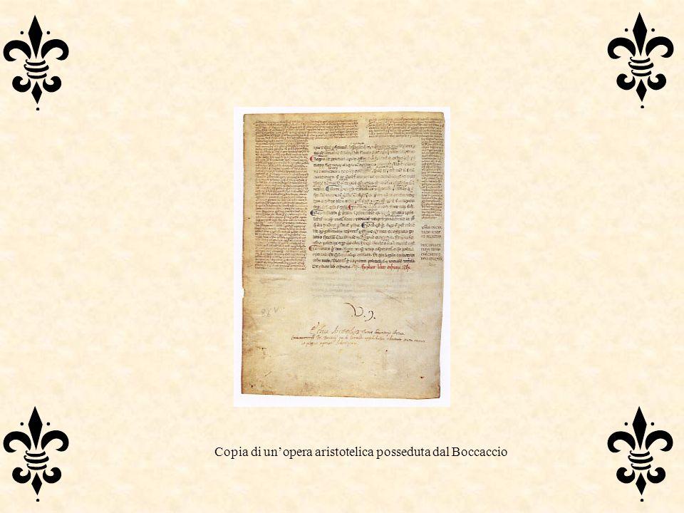 Copia di un'opera aristotelica posseduta dal Boccaccio