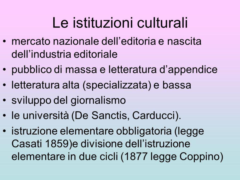 Le istituzioni culturali