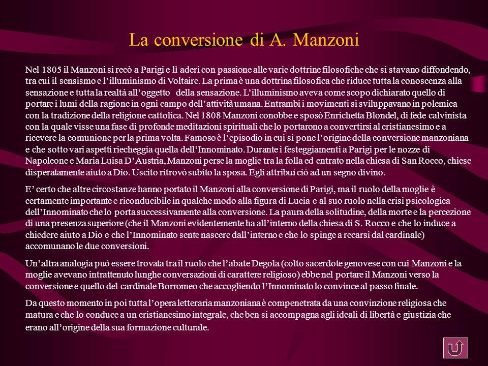La conversione di A. Manzoni