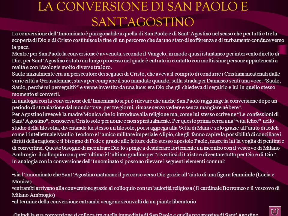 LA CONVERSIONE DI SAN PAOLO E SANT'AGOSTINO