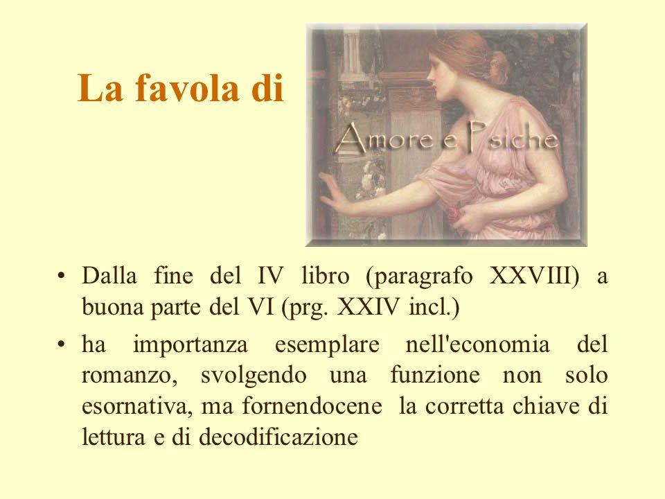 La favola di Dalla fine del IV libro (paragrafo XXVIII) a buona parte del VI (prg. XXIV incl.)