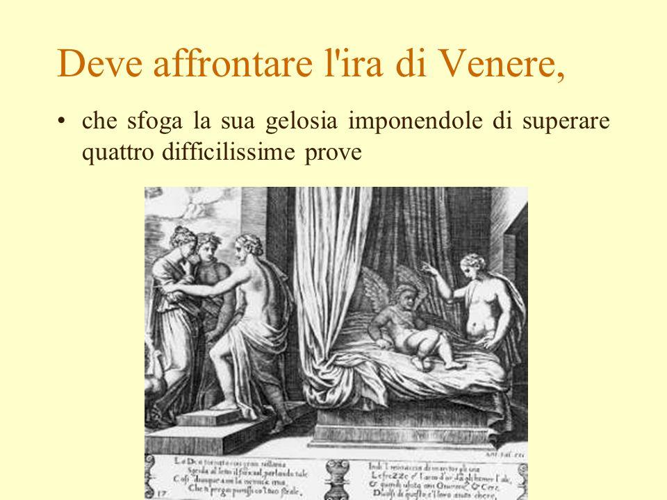 Deve affrontare l ira di Venere,