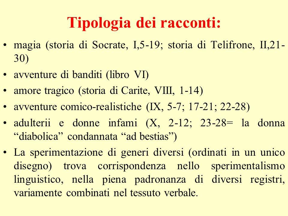 Tipologia dei racconti: