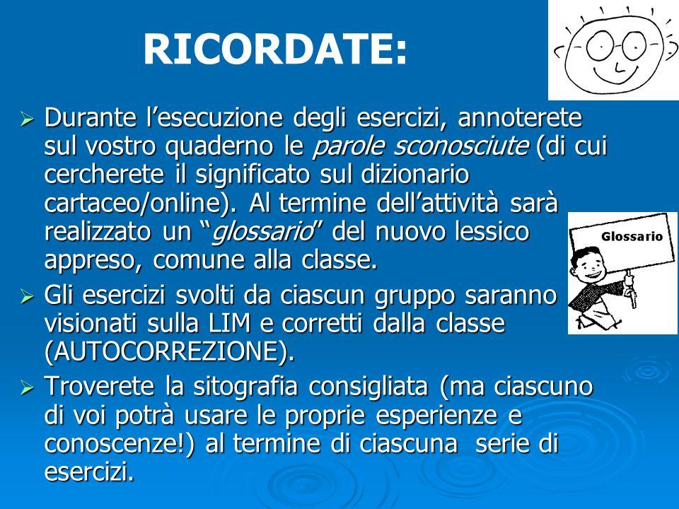 RICORDATE: