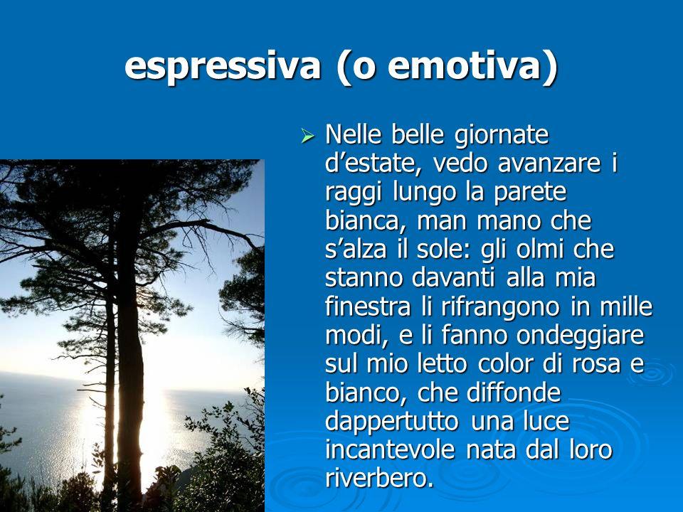 espressiva (o emotiva)