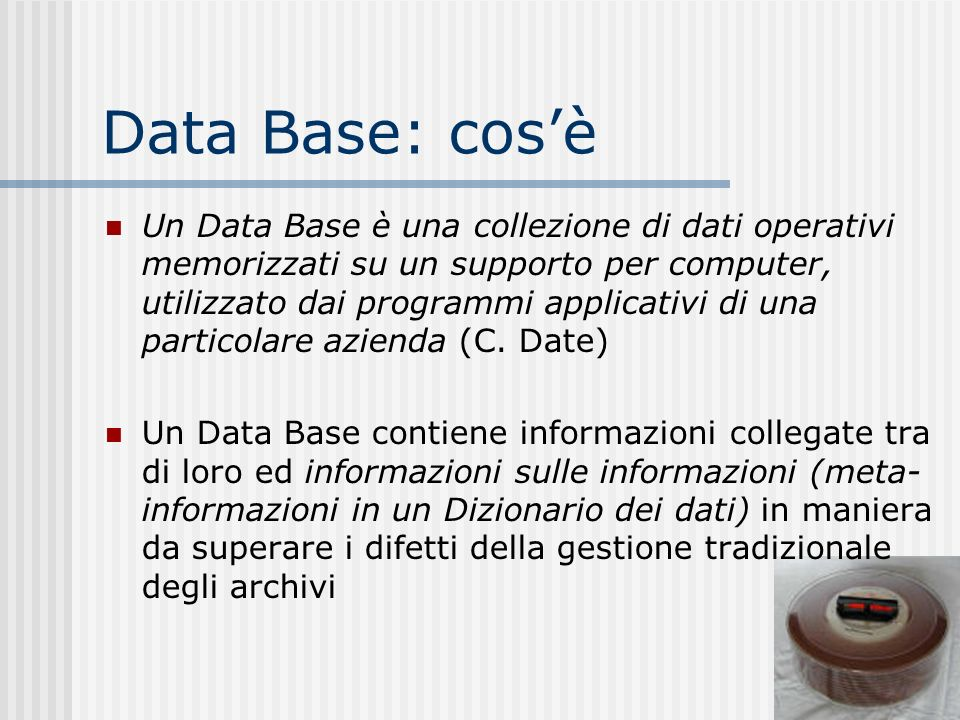 Data Base: cos'è