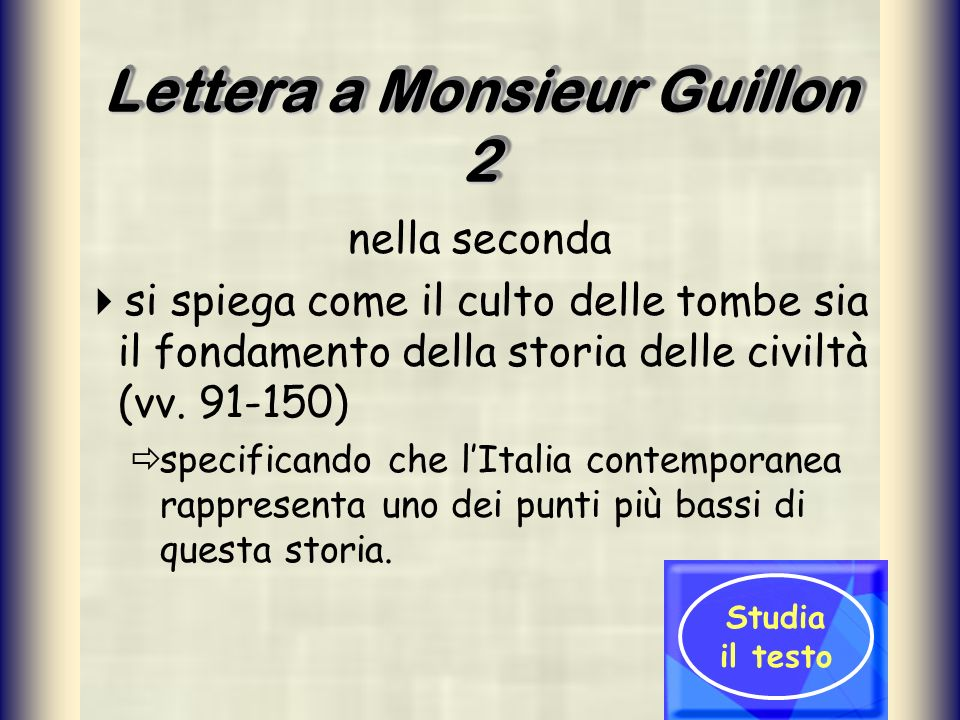 Lettera a Monsieur Guillon 2
