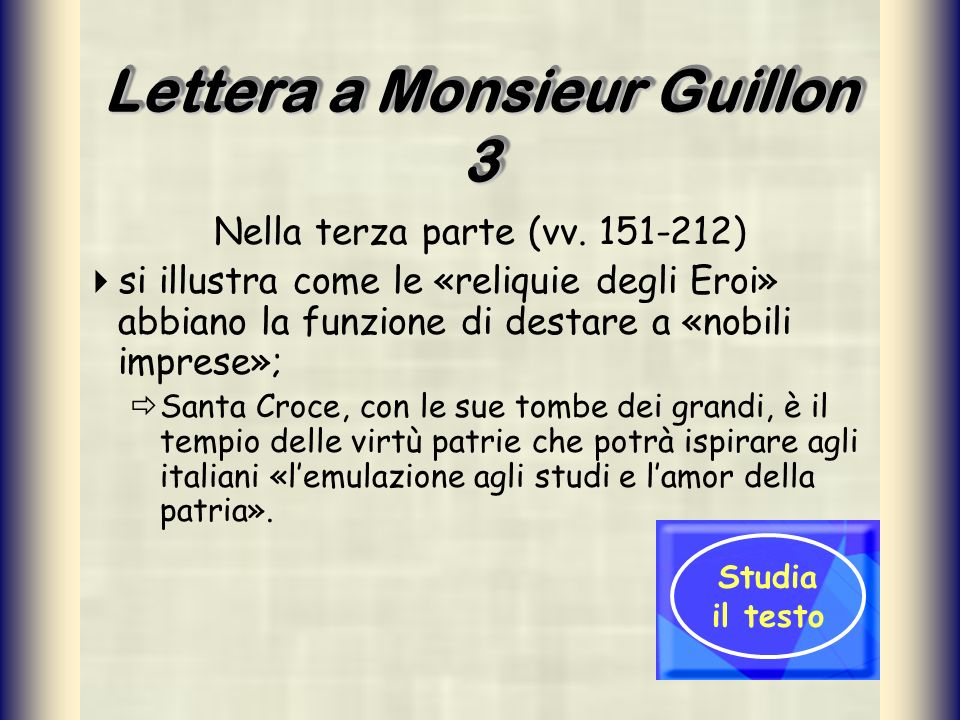 Lettera a Monsieur Guillon 3