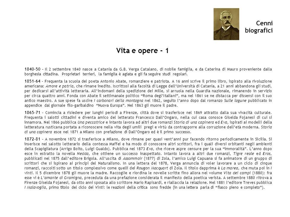 Vita e opere - 1 Cenni biografici