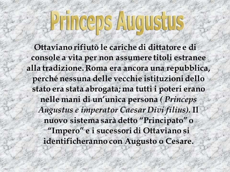 Princeps Augustus