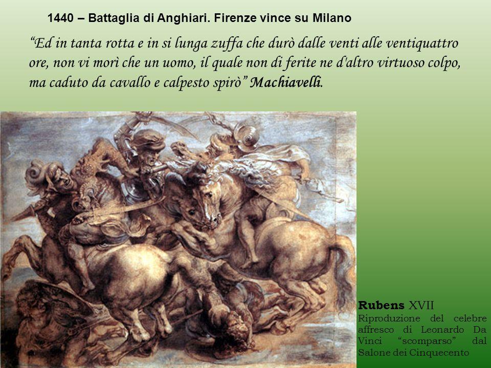 1440 – Battaglia di Anghiari. Firenze vince su Milano