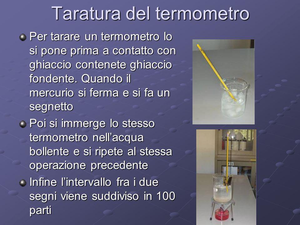 Taratura del termometro