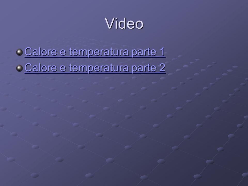 Video Calore e temperatura parte 1 Calore e temperatura parte 2